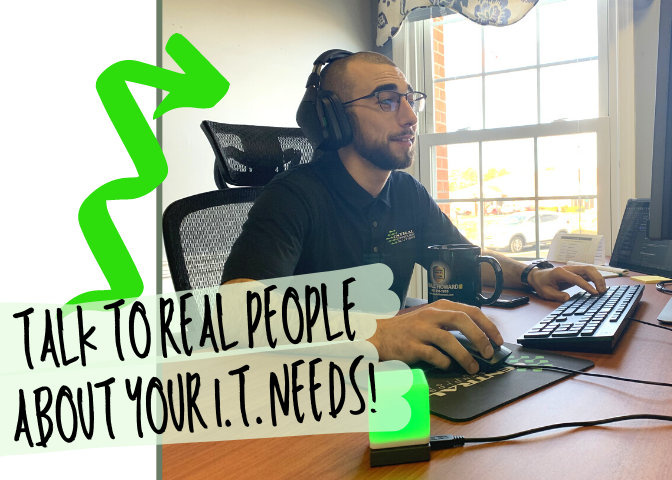 TALK TO REAL PEOPLE ABOUT YOUR I.T. NEEDS!